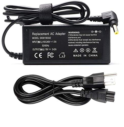 65W Laptop Charger, L-Tip AC Adapter for Asus X401 X401A X401U X501 X501A X502C X550 X550C X550L X551 X551C X551M X751MA Q301 Q400 Q500 Q501 Q502 Q551 F502C F551M F555 F555L F555U K50 K53 K55 A53 A55