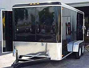 Trailer Stone Guard with Natural Diamond Plate, 24