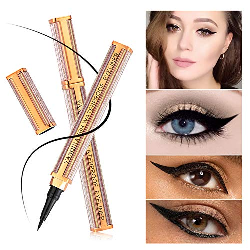 Metermall New for Black Eyeliner Women Comestic Eye Liner Pencil Waterproof Long-lasting Make Up Eyeliner Marker Pen