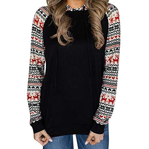 FRAUIT hoodie sweatshirt dames kerstprint mouwen capuchon herfst winter pullover sweatjas hoody kraag geruit trui bovenstuk