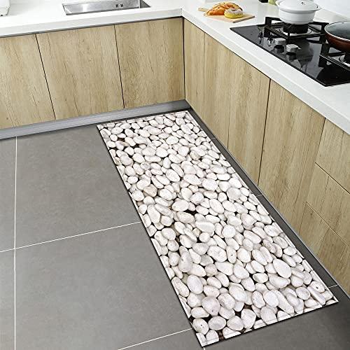 OPLJ Alfombrillas de Cocina Modernas, alfombras de Entrada para el Dormitorio de la Sala de Estar, pasillos del baño para el hogar alfombras absorbentes Antideslizantes A12 60x180cm