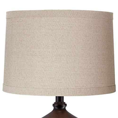 Natural Linen Medium Drum Lamp Shade 15