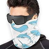 ShiHaiYunBai Braga Cuello Moto Calentador de Cuello Deporte Calentador Pasamontañas Polar Multifuncional Máscara Whale,shark Pattern Men's Women's Face Masks BandaNeck Warmer Windproof Mask