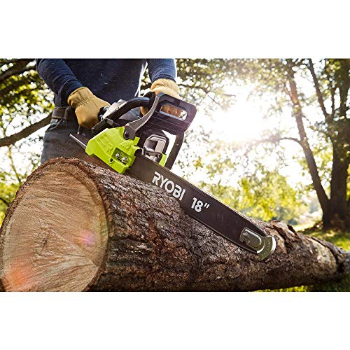 Ryobi 18 inch 38cc 2-Cycle Gas Chainsaw with 3-Point Vibration Isolation and Heavy Duty Carrying Case