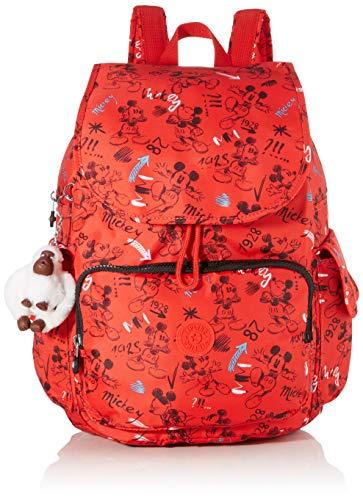 Kipling - D Citypack, Mochilas Mujer, Multicolor (Sketch Red)