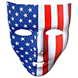 Amscan Full Face Mask, Party Accessory, Red, White And Blue, 6 1/4' X 7 3/4'
