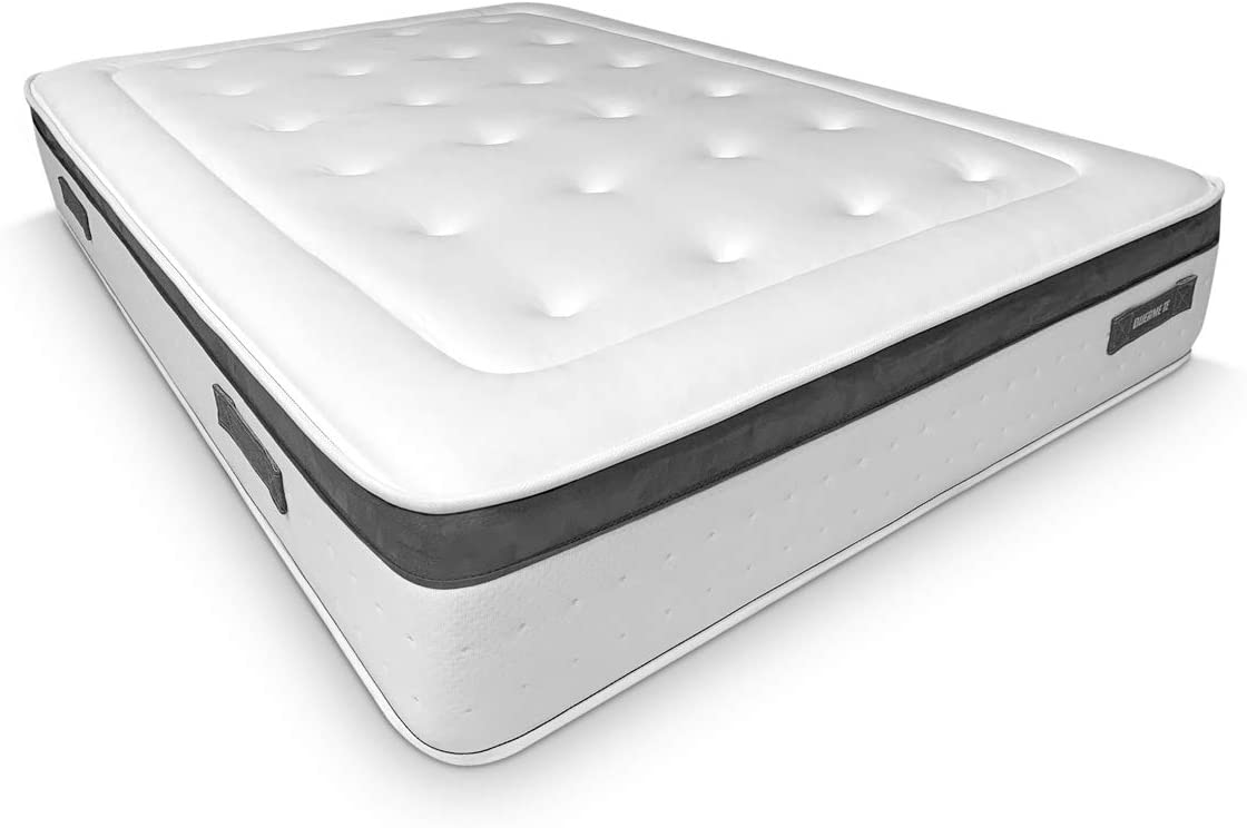 Duérmete Online Colchón Viscoelástico Nature Biogel   Altura 20cm   Confort Máximo   Tejido Termorregulador, Blanco, 150x200