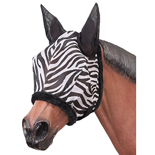 Tough-1 Zebra Mesh Fly Mask Zebra