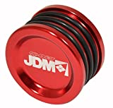 JDM Sport Anodized Engine Cam Shaft Seal Cover Cap Plug O Ring For Honda Acura B/D/H/F Series Engines (Red)