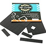 Best Magnetic Tapes - 105-Piece Flexible Magnetic Squares for Light Everyday Use Review