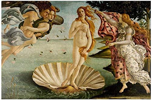 El Nacimiento De Venus Botticelli Rompecabezas para Adultos, 1000 Piezas para Niños Rompecabezas Juego Juguetes Regalo para Niños Niños Y Niñas, 20