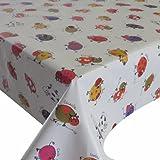 Wachstuch Wachstischdecke Tischdecke Breite und Länge wählbar Kleine Kühe Bunt Weiss 140 x 240 cm Eckig abwaschbar Gartentischdecke