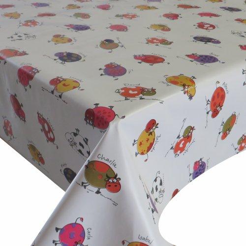 Wachstuch Wachstischdecke Tischdecke Breite und Länge wählbar Kleine Kühe Bunt Weiss 120 x 160 cm Eckig abwaschbar Gartentischdecke