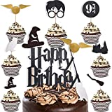 32 Super Cute Decorations for Harry Potter Party Supplies - Cake Topper for Harry Potter Birthday Party Supplies - Cupcake Topper for Harry Potter Party - Cake Decorations for Harry Potter Birthday