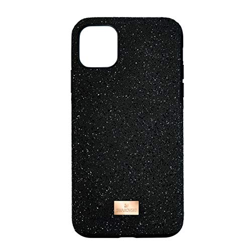 Swarovski High Phone Case, Smartphone Case iPhone 11 Pro Max with Bumper in a Black Swarovski Glitter Finish