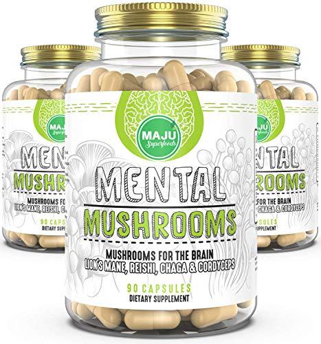 Maju Mental Mushroom Capsules - Mushroom Extract Supplement w/Lion