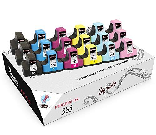 Squuido 18 Cartuchos de Tinta 363 363XL compatibles para HP Photosmart C7280 C8180 C5180 C6180 C6280 C7180 3310 3210 3110 8250 D6160 D7160 D7260 D7460 | Alto Rendimiento