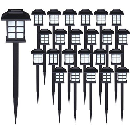Deuba Set de 24x Lampes solaires LED Lumière pour Jardin Balcon terrasse