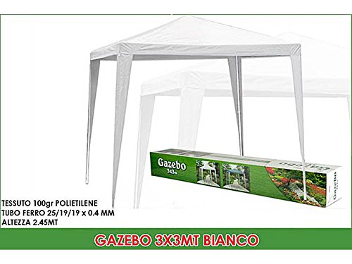 GENERAL TRADE Gazebo 3 x 3mt White 883502