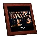葛飾応為『 吉原格子先之図 』の木枠付きフォトタイル(浮世絵シリーズ)
