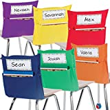 Really Good Stuff Grouping Chair Pockets – Set of 12 - Six Bright Rainbow Colors – Classroom Chair Organizer Keeps Students Organized and Classrooms Neat