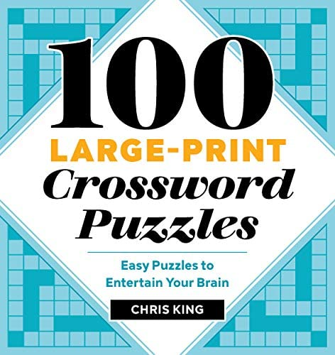 100 Large Print Crossword Puzzles Easy Puzzles to Entertain Your Brain product image