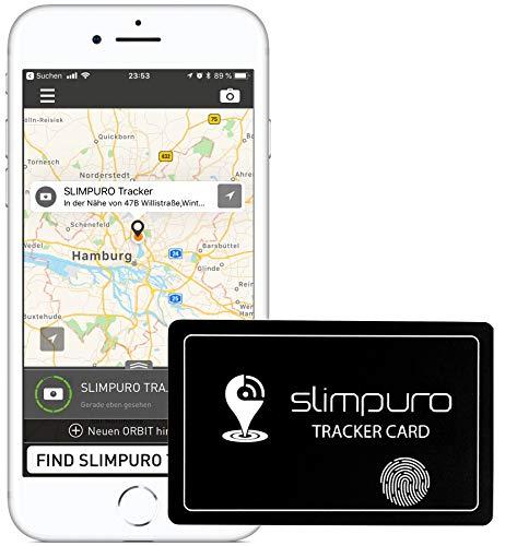 Tracker Karte mit Bluetooth - Geldbörse Finder, Sucher - Handy Finder - GPS Ortung/Kopplung - Wiederaufladbar - Selfie Funktion - 1,2mm dünn - Brieftaschenfinder - App iOS/Android (Tracker Karte)
