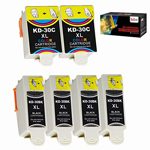 TacTink Compatible with Kodak 30 30XL ESP C315 C310 Ink Cartridges 6 Combo Pack, High Yield Works with Kodak ESP 3.2 ESP C110 Office 2150 2170 Hero 3.1 Hero 5.1 Printers