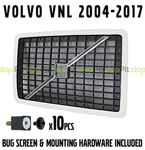 Volvo VNL 04-17 Front Hood Radiator Grill Black Chrome With Bug Screen 20505759