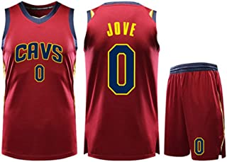 Basketball Clothing Suit Cleveland Cavaliers 0# Kevin Love Jersey Sleeveless Vest Sports Shorts Suit Training Competition Casual Sweatshirt,Red,2XS