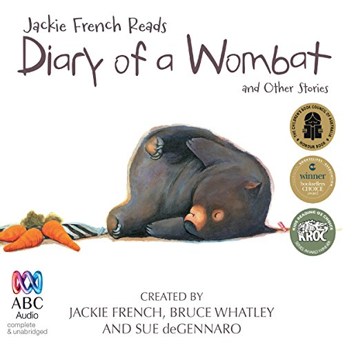 Jackie French Reads: Diary of a Wombat and Other Stories audiobook cover art