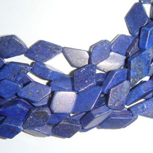 Lapis-Lazuli Perles Bleu Diamant Approx 7 x 10mm-7 x 12mm Teints Fil De 28+