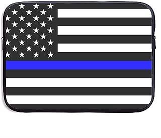 Thin Blue Line Blue Lives Matter Flag.PNG Funda para portátil Funda para maletín Funda para MacBook Pro/Notebook, Resistente al Agua