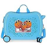 Enso Basket Family Maleta Infantil Azul 50x39x20 cms Rígida ABS Cierre combinación 34L 2,1Kgs 4 Ruedas Equipaje de Mano