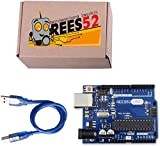 DS Robotics Uno R3 ATmega328P with USB Cable length 1 feet, Compatible with ATMEGA16U2 Arduino (Color may vary)