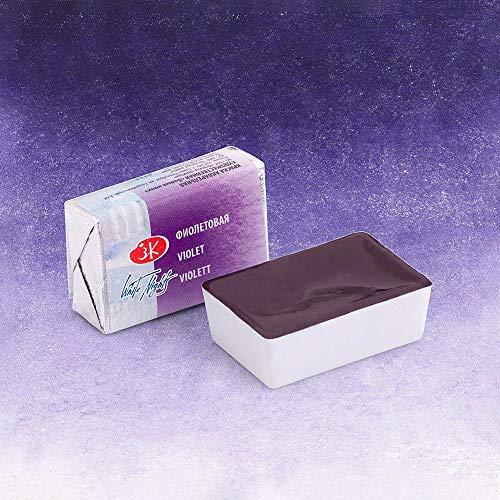 White Night Artists Watercolour Violet (607) semi-dry watercolors in plastic pans (A)