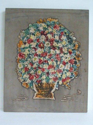 Üppiger Blumenstrauß in Vase - Originale Seidenmalerei