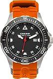 Cressi Manta Reloj Submarino, Unisex Adulto, Plata/Negro/Naranja, Talla única