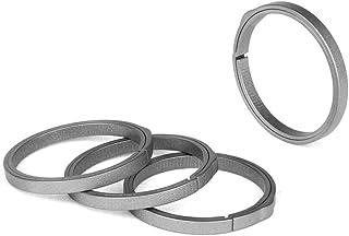 TISUR EDC Titanium Keyring, Side-Pushing Designed (4-Pack) Key Chain Key Rings Holder Split Rings, Group Your Keys