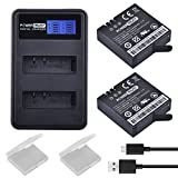 PowerTrust 2-Pack AZ16-1 Replacement Battery and LCD Dual USB Charger for XiaoYi 4K 2 Action Camera