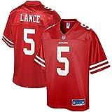 NFL PRO LINE Men's Trey Lance Scarlet San Francisco 49ers Jersey