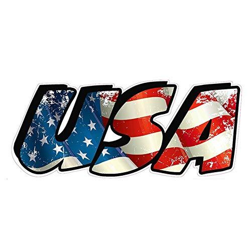 Pegatinas para coche, diseño de bandera americana de vinilo tallado, decoración divertida, 13 x 6 cm (color 1)