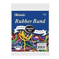 BAZIC 2オンス / 26.70オンス 様々なサイズと色のゴムバンド (6110-36)