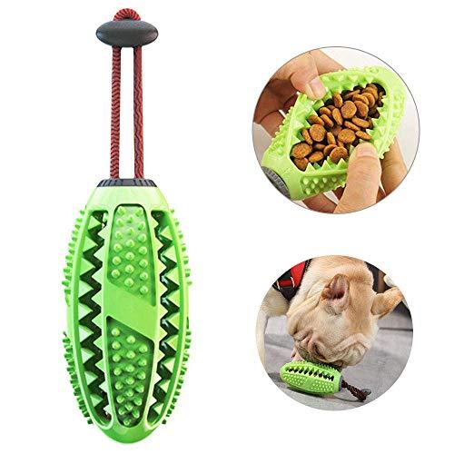 Aidiyapet Zahnbürsten-Stick, Ball Leckerli-Spender für Hunde Welpen-Zahnpflege, Bürsten und Kauspielzeug, ungiftiges Naturkautschuk (Grün)