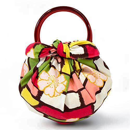 モダンガール いちごバッグ 風呂敷といちごリングのセットです(作り方しおり付) (さくらマルチ・20447-215)