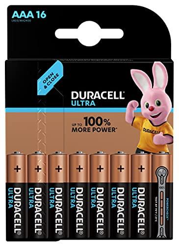 Duracell Ultra, lot de 16 piles Type AAA