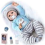ZIYIUI Reborn Baby Doll 22 Zoll 55 cm lebensechte weiche Silikon Vinyl handgemachte Reborn Baby Boy Neugeborenen