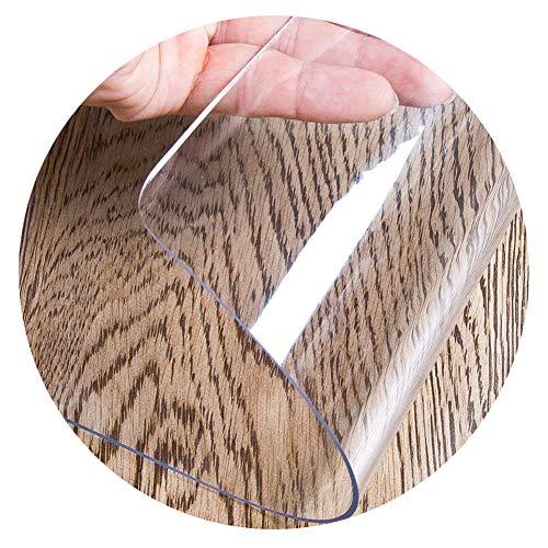 LICHUN PVC Tischdecke Wasserdicht Rechteckig Filet Tischtuch Tabellen-Schutz Bodenpolster Haustier Matte zum Schreibtisch Dekorativ Ölbeständig Einfach zu reinigen (Color : 3mm, Size : 90x150cm)