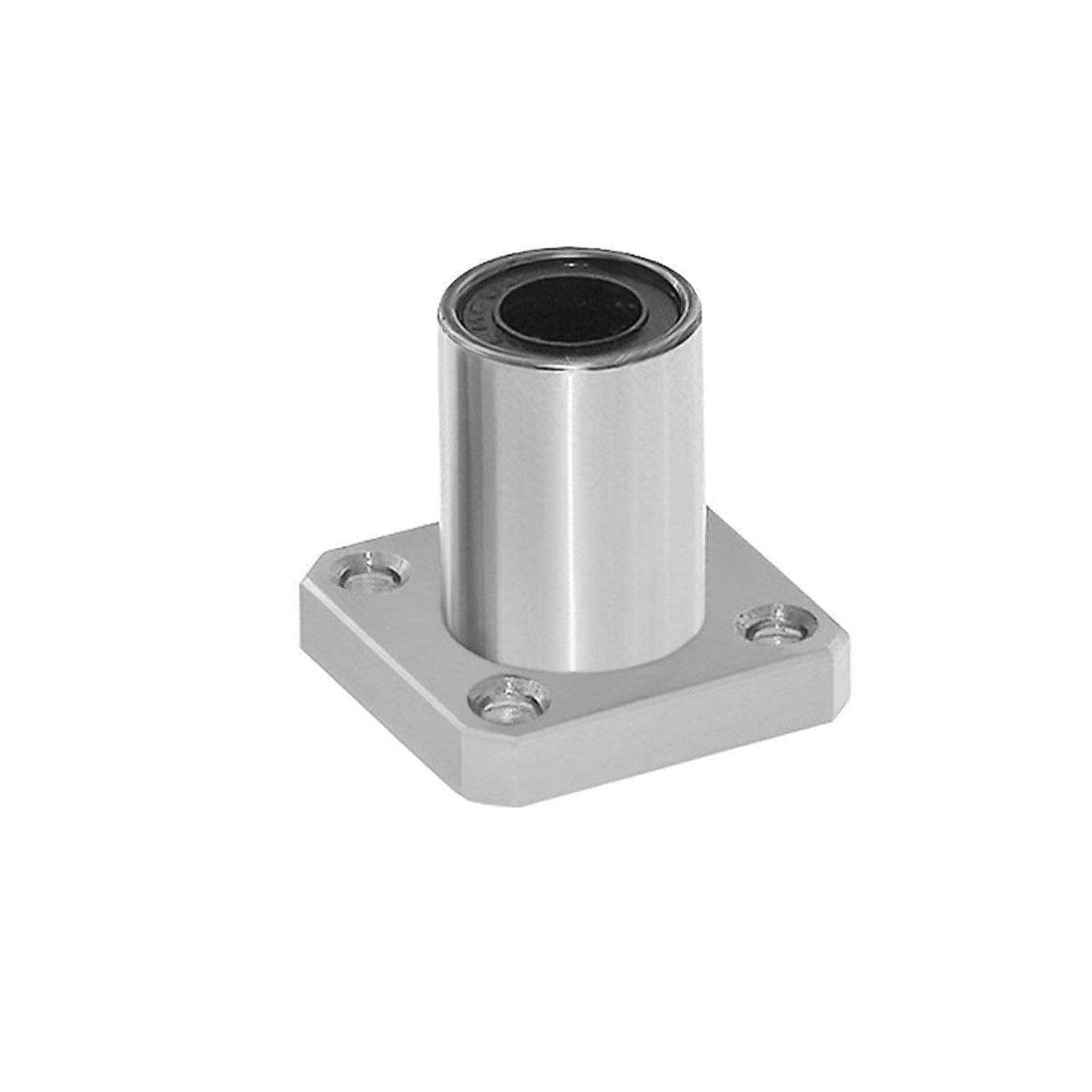 後エジプト落胆させる1ピースLMK6UU dr:6 mm角フランジ型リニアベアリングブッシュ、3Dプリンタ用リニアロッドスティック電動工具CNC部品 - シルバー