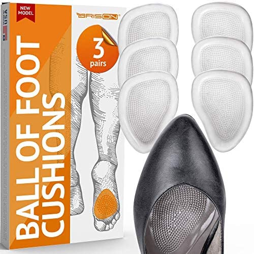 Ball of Foot Cushions for Women High Heel Soft Gel Insole Metatarsal Pads Shoe Inserts Mortons product image